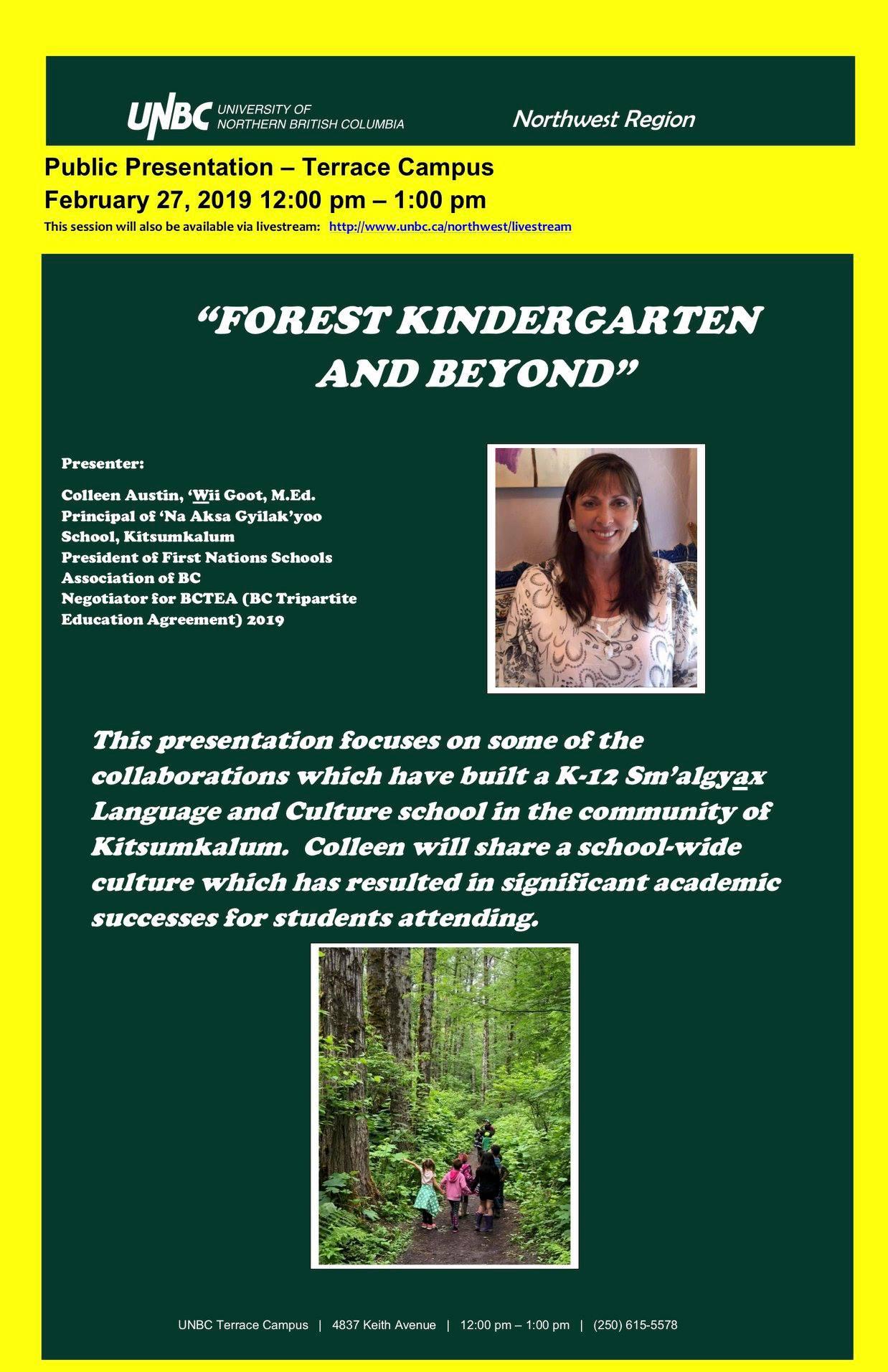Public Presentation: Forest Kindergarten and Beyond