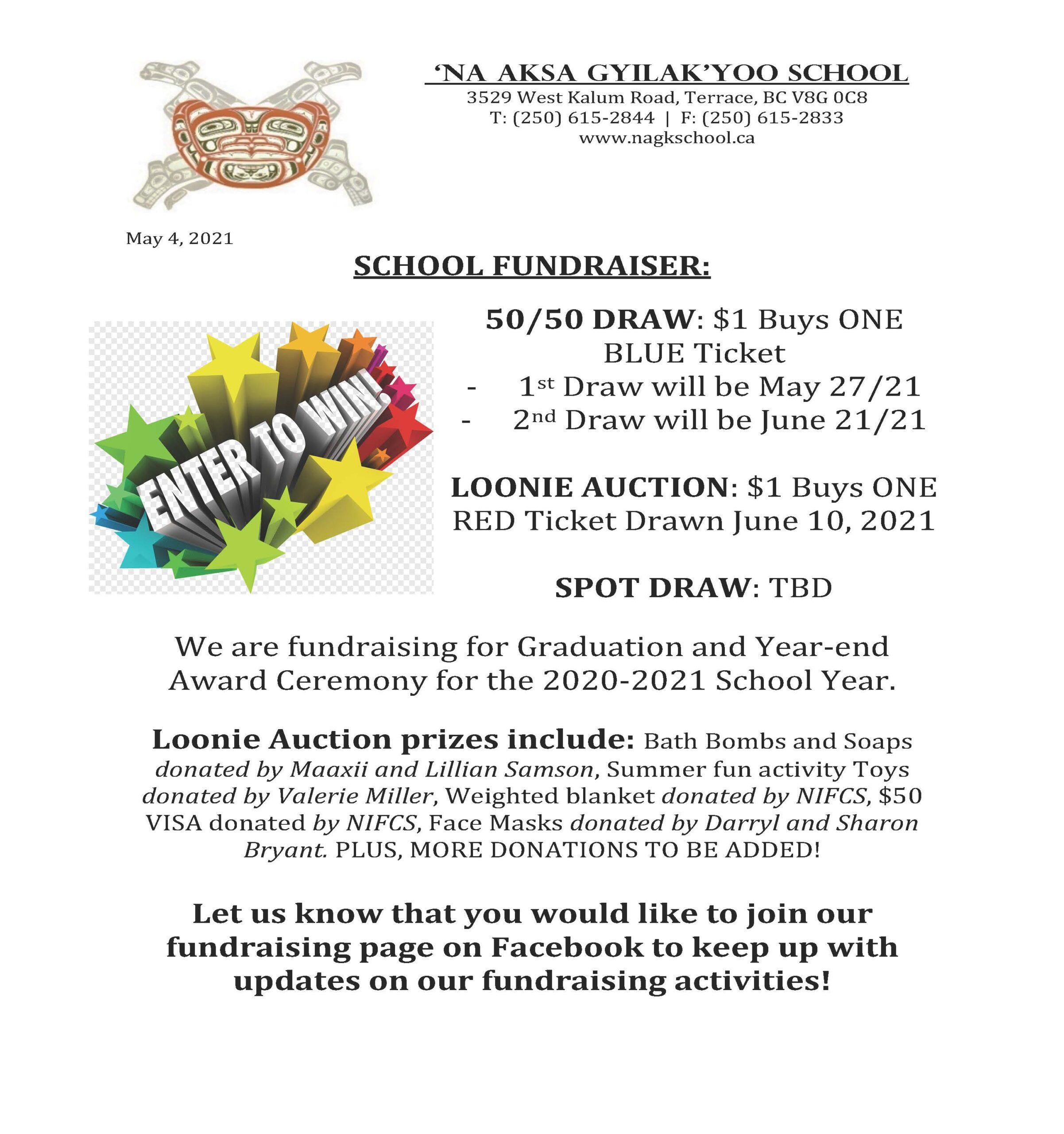 MAY School Fundraiser